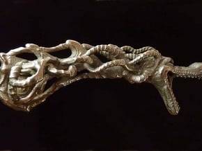 Dragon doorhandle 003 in Polished Bronzed Silver Steel