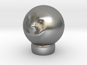 Sculptris Head Smiley Meme On Tinkercad Ring in Natural Silver