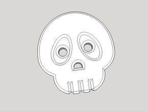 Cute Skull Shirt Button in Black Natural Versatile Plastic