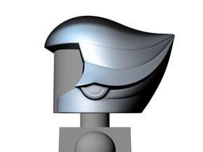 Quicksilver helmet (open face) for Minimates in Smooth Fine Detail Plastic