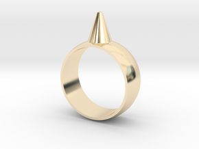 223-Designs Bullet Button Ring Size 7.5 in 14K Yellow Gold