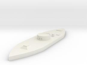 1/600 USS Monitor  in White Natural Versatile Plastic