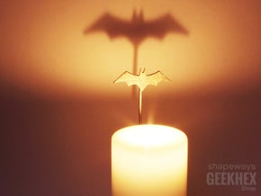 Batman 2001 - Spotlight Candle Attachment in Polished Nickel Steel