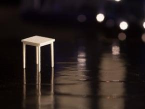1:48 Square Table in White Natural Versatile Plastic