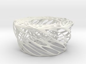 Twisted Candle in White Natural Versatile Plastic