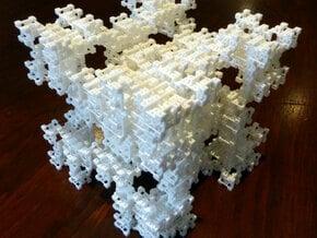 Fractal Graph 4 in White Natural Versatile Plastic