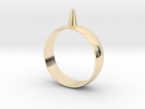 Size 16 223-Designs Bullet Button Ring  in 14K Yellow Gold