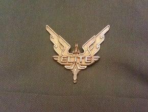 Elite - wings / badge in Polished Gold Steel