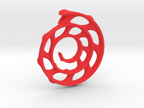 Koru Spiral: 5cm in Red Processed Versatile Plastic