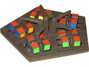 Swap Cube in White Natural Versatile Plastic