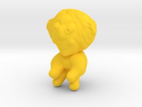 Clown in Yellow Processed Versatile Plastic