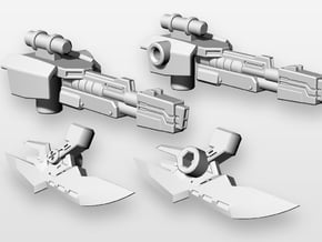 TF: Prime deluxe RID Arcee Blasters and Blades in White Natural Versatile Plastic