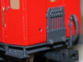 Scherengitter für Schmalspurpersonenwagen H0e in Smooth Fine Detail Plastic