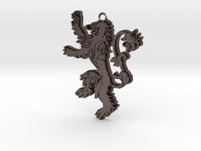 Lannister Pendant in Polished Bronzed Silver Steel
