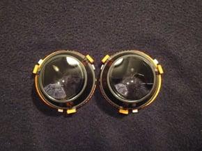 59.5mm (Narrowest) Lens Separators | Oculus Rift D in Orange Processed Versatile Plastic