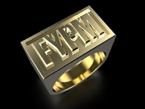 FYPM Ring in Polished Brass