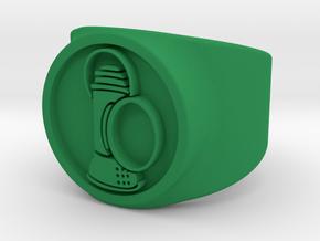 Alan Scott GL Ring Sz 5 in Green Processed Versatile Plastic