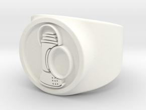Alan Scott GL Ring Sz 6 in White Processed Versatile Plastic