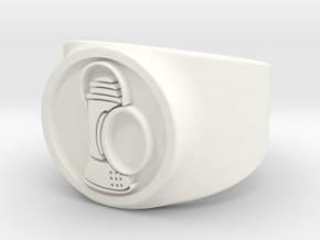 Alan Scott GL Ring Sz 8 in White Processed Versatile Plastic