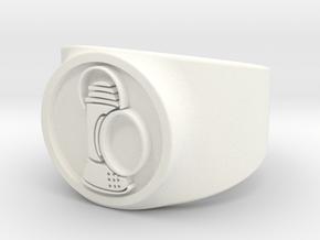 Alan Scott GL Ring Sz 9 in White Processed Versatile Plastic