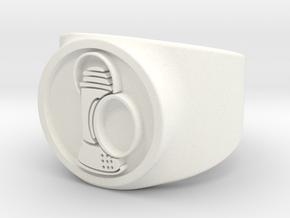Alan Scott GL Ring Sz 7 in White Processed Versatile Plastic