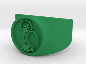 Alan Scott GL Ring Sz 11 in Green Processed Versatile Plastic