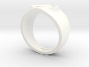 Alan Scott GL Ring Sz 14 in White Processed Versatile Plastic