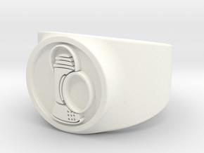 Alan Scott GL Ring Sz 10 in White Processed Versatile Plastic