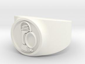 Alan Scott GL Ring Sz 13 in White Processed Versatile Plastic
