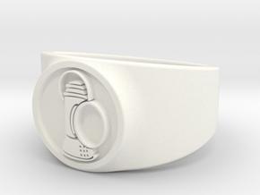 Alan Scott GL Ring Sz 15 in White Processed Versatile Plastic