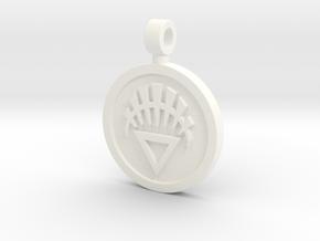 White Lantern Pendant in White Processed Versatile Plastic
