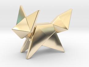Origami Fox in 14K Yellow Gold