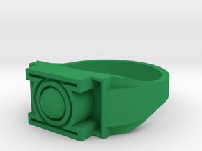 Green Lantern Ring Size 13 in Green Processed Versatile Plastic