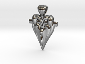 Family And Faith First in Fine Detail Polished Silver