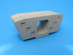 HO/1:87 Precast concrete bridge segment fill (wide in White Natural Versatile Plastic