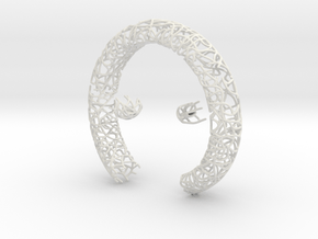 Bracelet (piece 1, 2 and 3) in White Natural Versatile Plastic