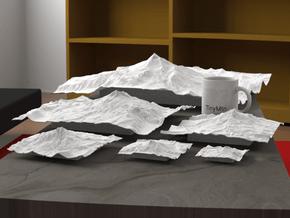 12'' Mt. Jefferson, Oregon, USA in White Natural Versatile Plastic