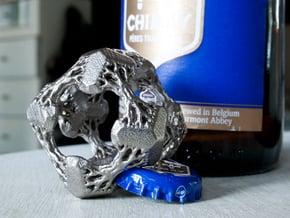 Cubic Woods - the Fractal Bottle Opener in Polished Nickel Steel