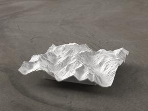 4'' Picket Range, Washington, USA in White Natural Versatile Plastic