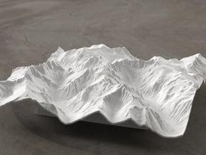 6'' Picket Range, Washington, USA in White Natural Versatile Plastic