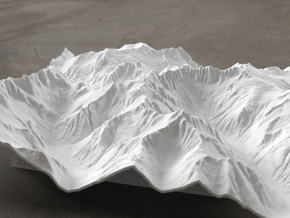 8'' Picket Range, Washington, USA in White Natural Versatile Plastic