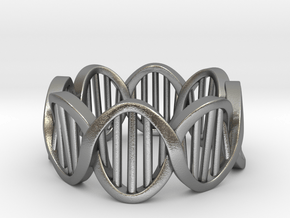 DNA Ring (Size 11) in Natural Silver