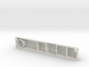 Model M SpaceBar (Short version) in White Natural Versatile Plastic