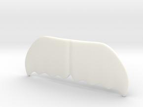 """""""Canadian"""" Moustache Tie Bar (Plastics) in White Processed Versatile Plastic"""
