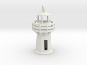 Lighthouse Pendant in White Natural Versatile Plastic