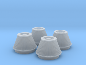 1/24 K&N Cone Style Air Filters TDR 4600 in Smooth Fine Detail Plastic
