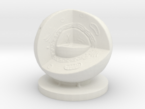 Cell Quarter 100mm in White Natural Versatile Plastic