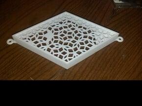 Penrose Mezuzah (fat rhomb) in White Natural Versatile Plastic