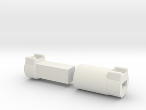 Driveshaft Long Wild Willy 4x4 in White Natural Versatile Plastic