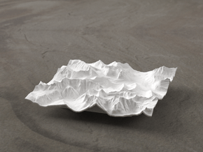 4'' Glacier National Park, Montana, USA in White Natural Versatile Plastic